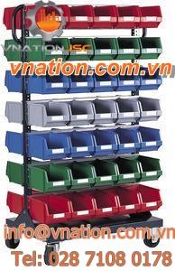assembly cart / shelf / multipurpose / metal