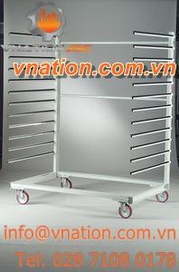 shelf cart / for doors / window / with swivel casters