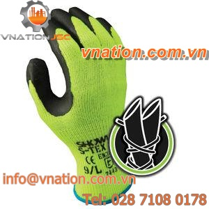 work gloves / anti-cut / rubber / breathable