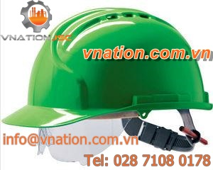 en 397 helmet / with face protection