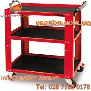 service cart / shelf / 3 levels / tool-holder