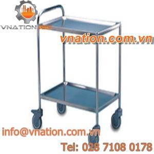 transport cart / shelf / 2 levels / multipurpose