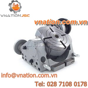 vertical tilting rotary table / for machine tools