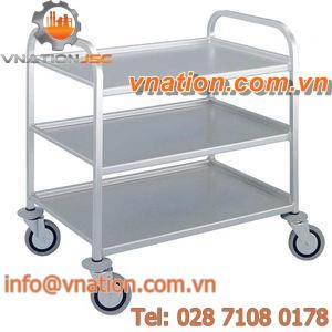 service cart / shelf / multipurpose / aluminum