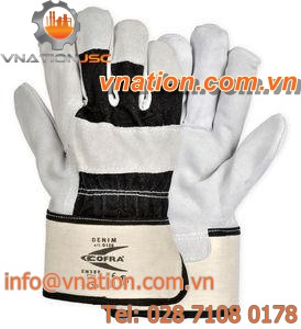 handling gloves / chemical protection / leather / full-grain leather
