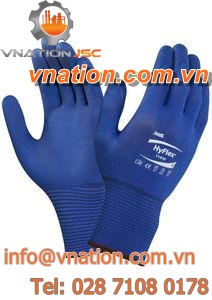 handling gloves / chemical protection / nitrile / nylon