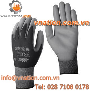 handling gloves / mechanical protection / nylon / rubber