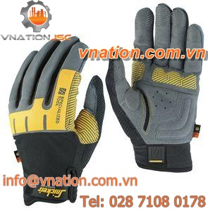 handling gloves / wear-resistant / rubber / polyester