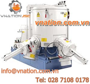 batch mixer / stainless steel / high-shear / clean-in-place (CIP)