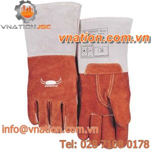 welding gloves / fire-retardant / synthetic fiber