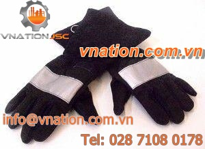 handling gloves / fire-retardant / synthetic fiber / firefighters