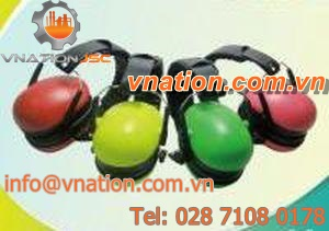 ABS hearing protection earmuffs / average attenuation