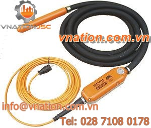 electric vibrator / for concrete / with integrated converter / high-frequency