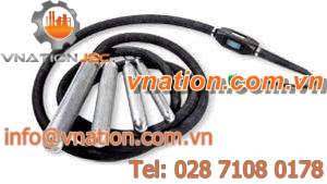 vibrator with electric actuator / for concrete / high-frequency / thermoplastic