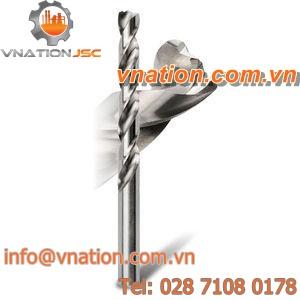 solid drill bit / HSS / jobber / 3-flute