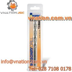 solid drill bit / masonry / carbide / straight shank