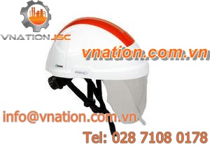 noise-reduction helmet / en 397 / with light / with face protection