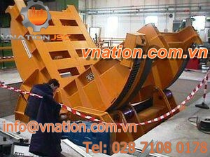 horizontal tilting rotary table / for heavy loads / for large parts / hydraulic