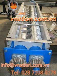 screw mixer / paddle / continuous / twin-shaft