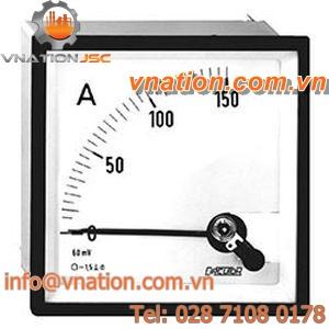 DC ammeter / analog / panel-mount