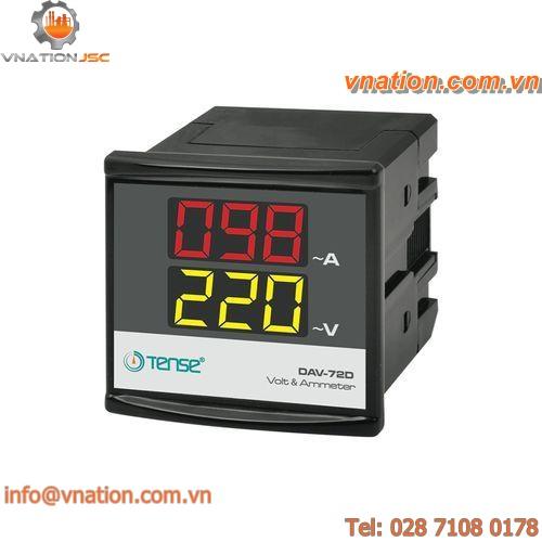 AC current measuring device / voltage / transformer / panel-mount