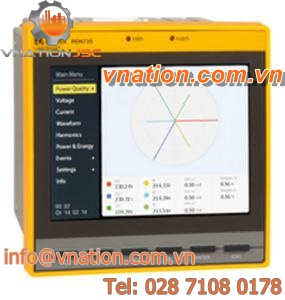 power quality measuring device / AC current / voltage / energy