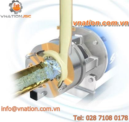 rotor-stator mixer / in-line / sanitary / for highly viscous products