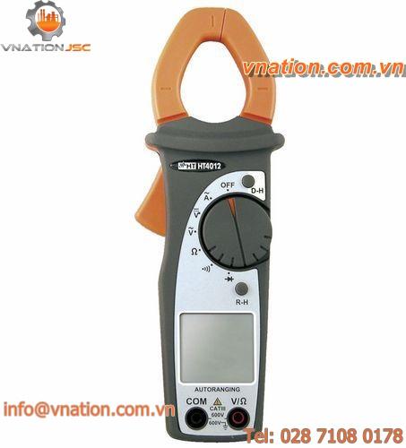 digital clamp ammeter / portable / voltage / current