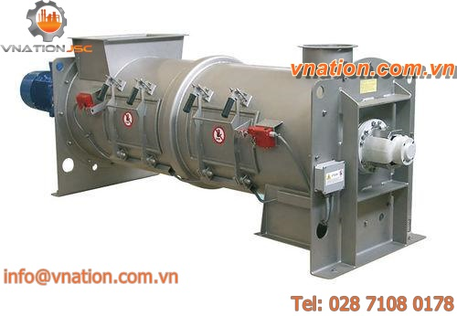 drum mixer / continuous / for sludge and lime / horizontal