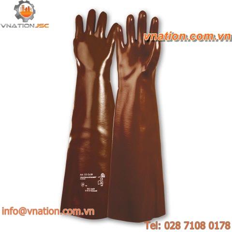 laboratory glove / chemical protection / cotton / PVC