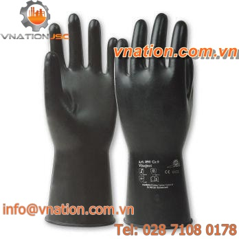 laboratory glove / chemical protection / rubber / for the chemical industry