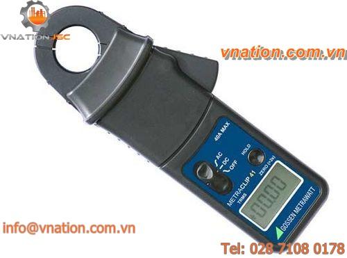digital clamp ammeter / portable / AC/DC / current