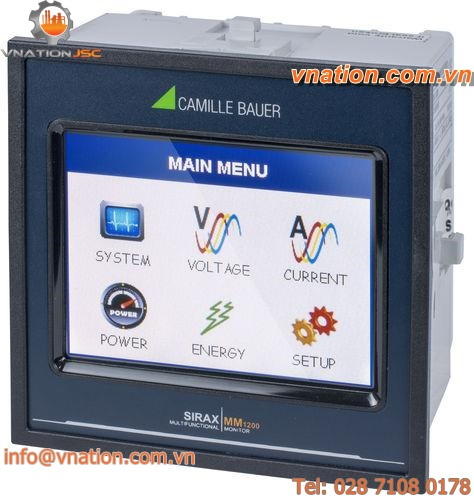 energy measuring device / voltage / power / with TFT screen