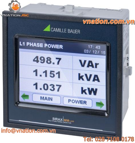 power measuring device / energy / voltage / frequency