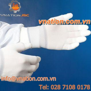 laboratory glove / chemical protection / nylon / polyester