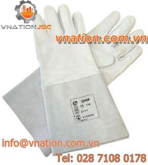 welding glove / fire-retardant / rubber
