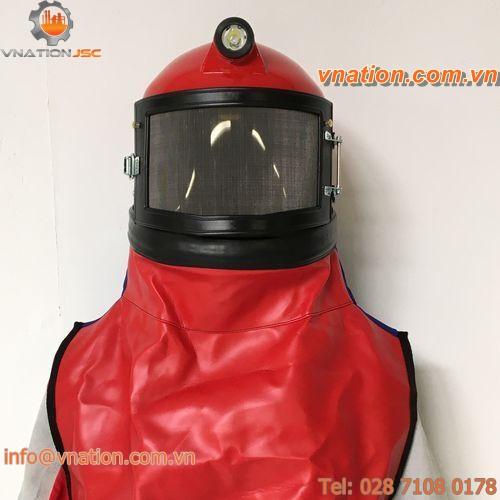 blasting helmet / protection / with light