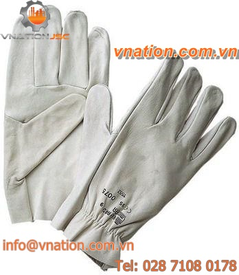handling glove / mechanical protection / leather / full-grain leather