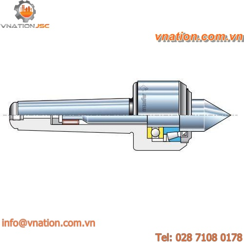 rotating lathe center / hardened steel / high-precision / for lathes