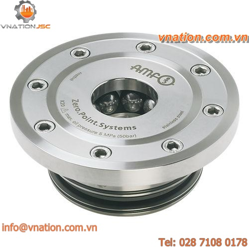rapid zero-point clamping cylinder / for integration / hydraulic / round
